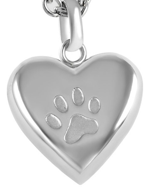 paw embossed heart