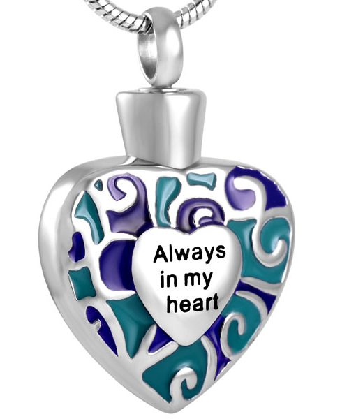 cremation-pendant-always heart-cremation-ashes